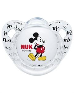 Пустышка Trendline Disney Mickey Mouse размер 2 прозрачная Nuk