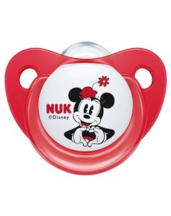 Пустышка Trendline Disney Mickey Mouse размер 2 красная Nuk