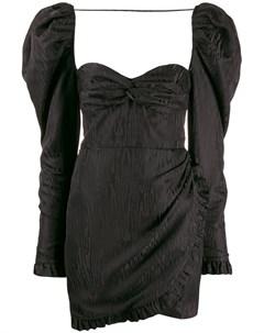 Фактурное платье с пышными рукавами Alessandra rich