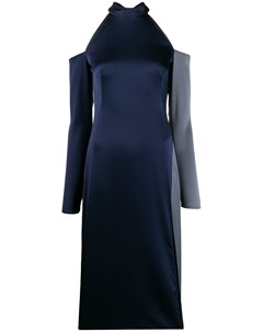 Атласное платье с открытыми плечами Ssheena