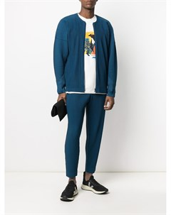 Плиссированная куртка без воротника Homme plissé issey miyake