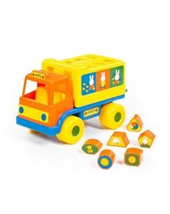 Сортер Логический грузовичок Миффи с 6 кубиками 1 Полесье