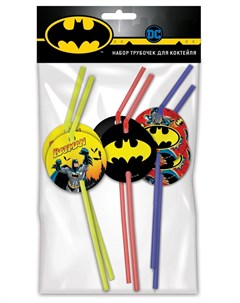 Набор трубочек для коктейля Batman 6шт Nd play