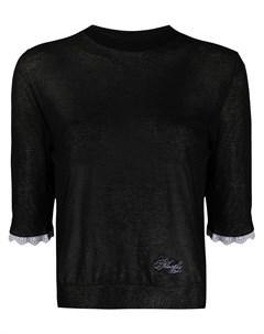 Прозрачный пуловер с рукавами три четверти Philosophy di lorenzo serafini