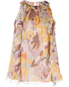 Блузка без рукавов с цветочным принтом M missoni