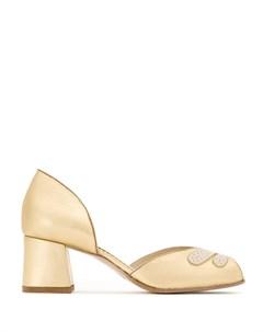 Туфли лодочки с эффектом металлик Sarah chofakian
