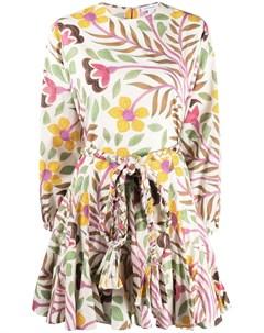 Расклешенное платье с цветочным принтом Rhode resort