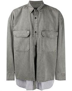 Многослойная куртка рубашка в полоску Juun.j