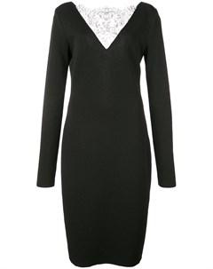 Коктейльное платье с кружевной отделкой Givenchy