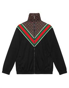 Куртка оверсайз из джерси с логотипом GG Gucci