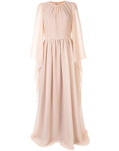 Платье с драпировкой и длинными рукавами Ingie paris