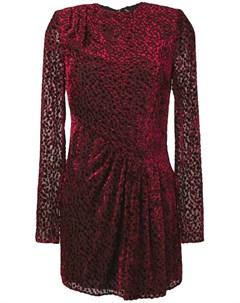 Полупрозрачное платье мини в точку Saint laurent