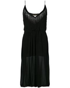 Приталенное платье с боковым разрезом Saint laurent