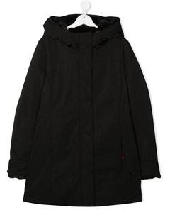 Пальто с капюшоном и потайной молнией Woolrich kids