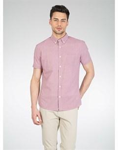 COLINS красный мужской рубашки короткий рукав COLIN'S