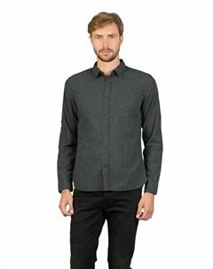 COLINS черный мужской рубашки длинний рукав COLIN'S