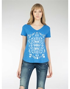 COLINS голубой женский футболки короткий рукав COLIN'S
