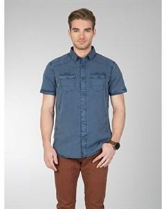 COLINS синий мужской рубашки короткий рукав COLIN'S