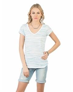 COLINS синий бирюзовый женский футболки короткий рукав COLIN'S