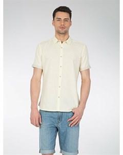 COLINS желтый мужской рубашки короткий рукав COLIN'S