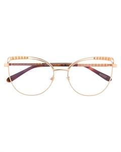 Декорированные очки в оправе кошачий глаз Chopard eyewear