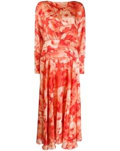 Платье Majorelle с цветочным принтом Galvan