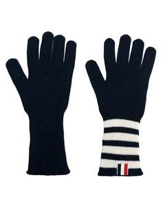 Кашемировые перчатки с полосками 4 Bar Thom browne