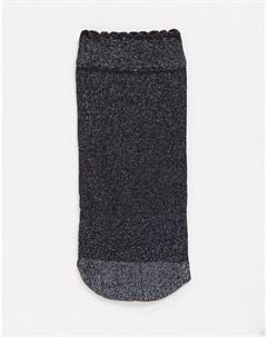 Носки из сетки средней длины черного цвета с эффектом металлик Pretty polly