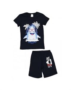 Пижама для мальчика футболка и шорты ПЖк М007 Repost