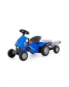 Каталка Трактор с педалями Turbo 2 с полуприцепом Coloma