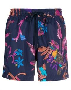 Плавки шорты Banador с цветочным принтом Etro