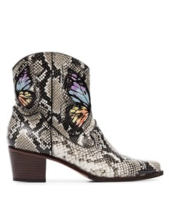 Ковбойские ботинки Shelby 50 со змеиным принтом Sophia webster