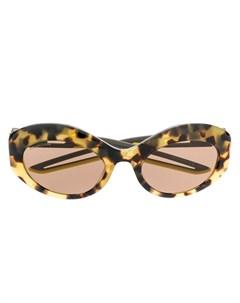 Солнцезащитные очки Hybrid черепаховой расцветки Balenciaga eyewear