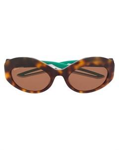 Солнцезащитные очки в круглой оправе черепаховой расцветки Balenciaga eyewear