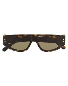 Солнцезащитные очки в квадратной оправе черепаховой расцветки Stella mccartney eyewear