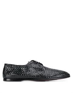 Плетеные туфли на шнуровке Dolce&gabbana