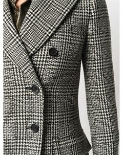 Двубортный пиджак в клетку Saint laurent