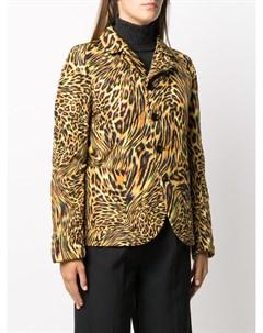 Блейзер с леопардовым принтом Maison margiela