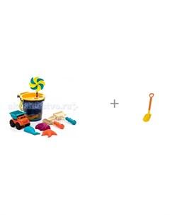 B Summer Малое ведерко с игрушками для песка 9 деталей и детская лопата 70 см Gowi Battat