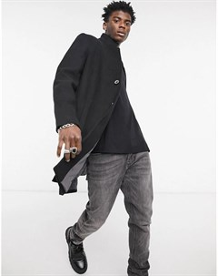 Черное шерстяное пальто Tom tailor