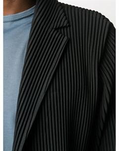 Однобортное пальто Homme plissé issey miyake