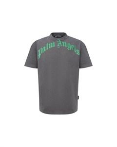Хлопковая футболка Palm angels