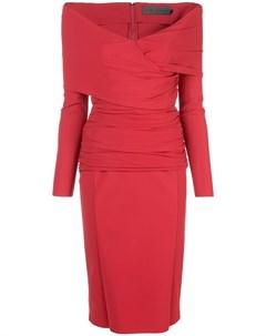 Платье с открытыми плечами и V образным вырезом Greta constantine