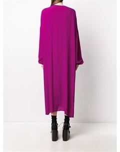 Расклешенное платье с длинными рукавами Christian wijnants