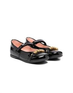 Туфли Мэри Джейн с логотипом Moschino kids