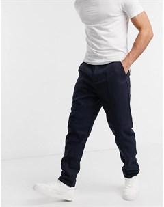 Темно синие шерстяные брюки от комплекта Luther Native youth