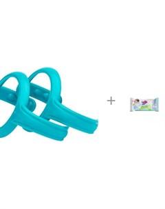 Ручки держатели для детских бутылочек и поильников и влажные салфетки L 20 шт Everyday baby
