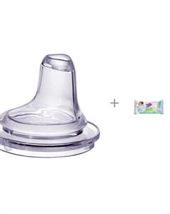 Соска Мягкий носик для бутылочек 2 шт от 6 мес и влажные салфетки L 20 шт Everyday baby
