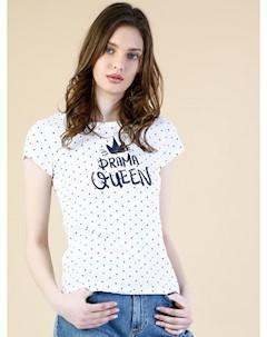 COLINS белый женский футболки короткий рукав