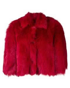 Укороченная шуба свободного кроя Red valentino